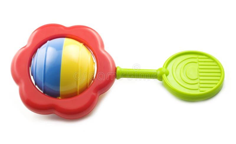 Chocalho colorido brilhante do bebê imagem de stock