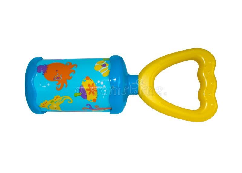 Chocalho colorido do bebê foto de stock