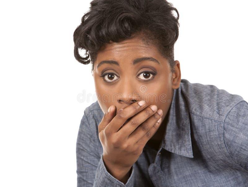 Chockad kvinna fotografering för bildbyråer