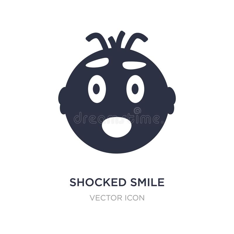 chockad leendesymbol på vit bakgrund Enkel beståndsdelillustration från UI-begrepp royaltyfri illustrationer