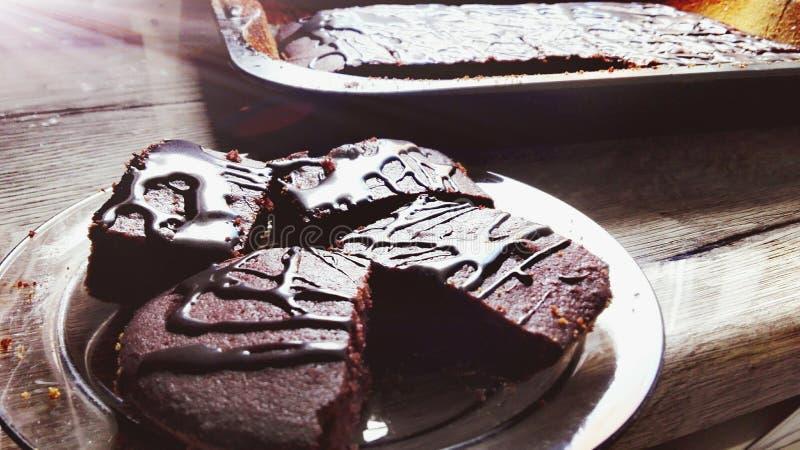 Chockolated cake royalty free stock photography