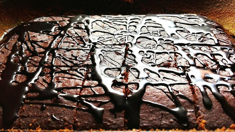 Chockolated cake stock photo