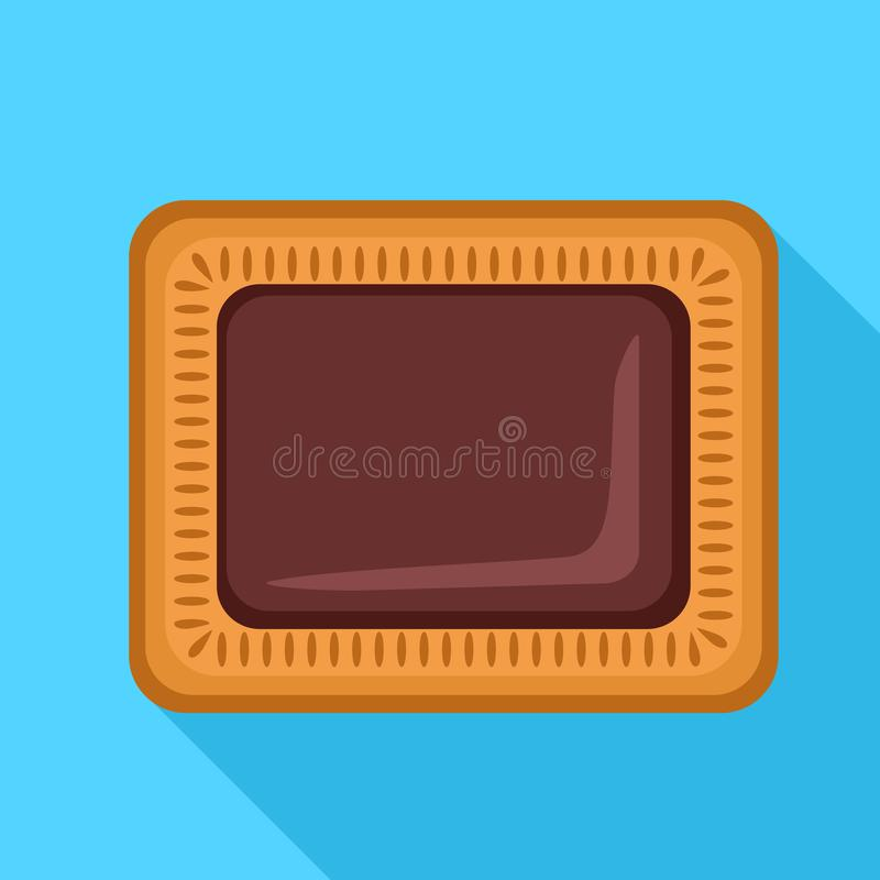 Choco biscuit icon, flat style. Choco biscuit icon. Flat illustration of choco biscuit vector icon for web design vector illustration