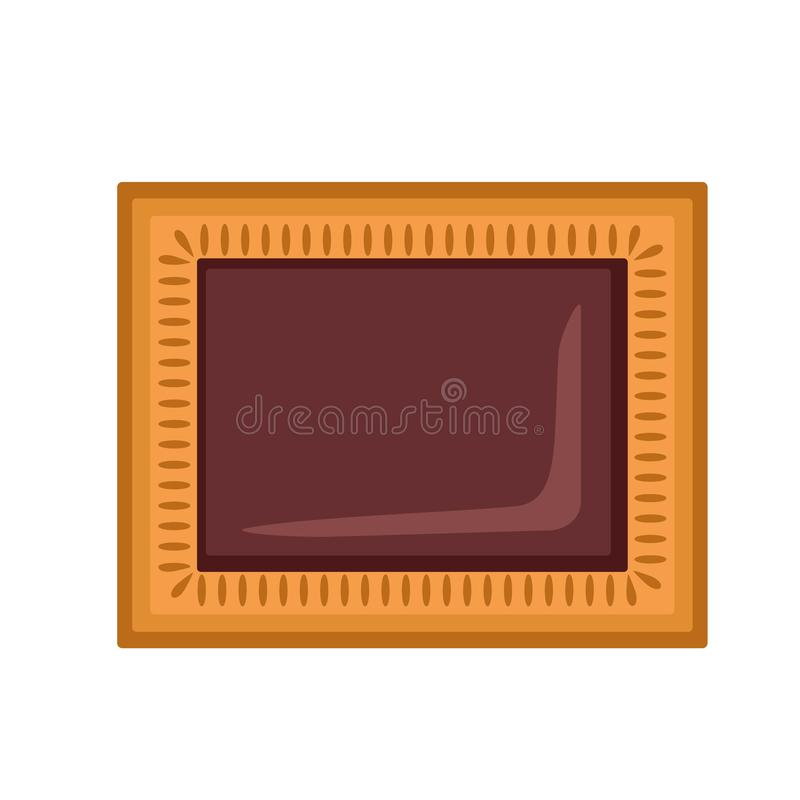 Choco biscuit icon, flat style. Choco biscuit icon. Flat illustration of choco biscuit vector icon for web design royalty free illustration
