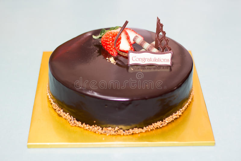 Choco cake stock image