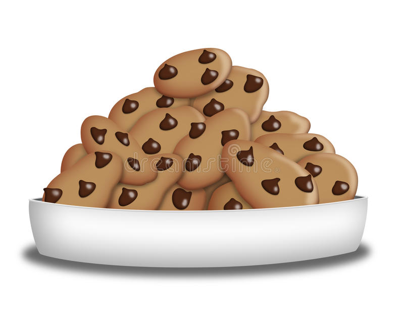 Choco Chip Cookies Royalty Free Stock Images