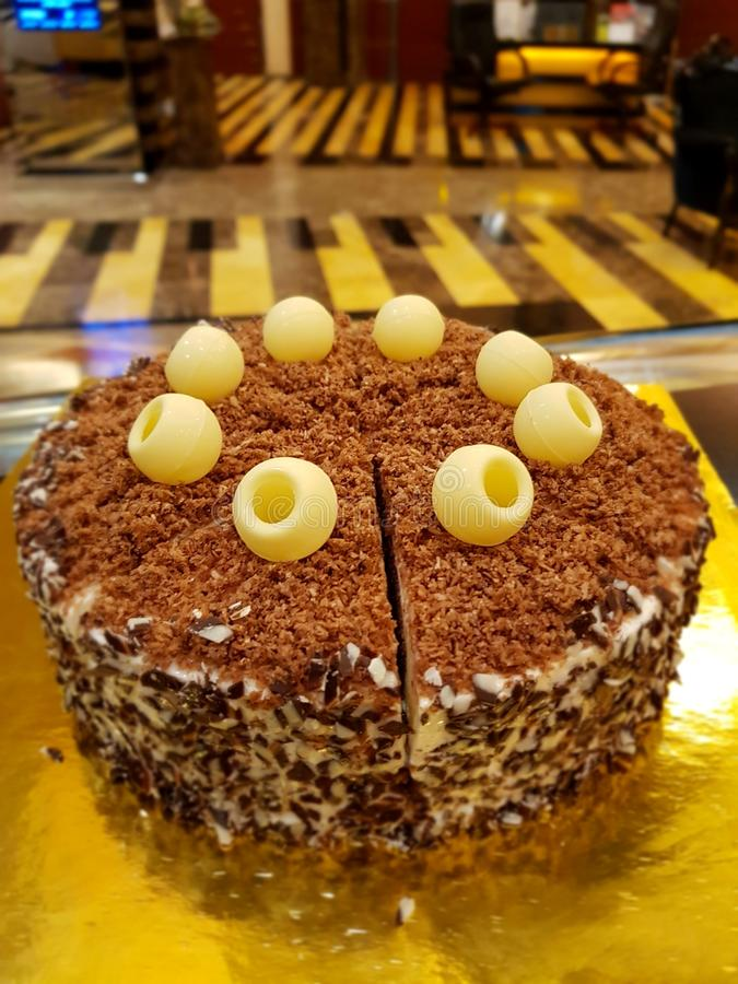 Choco coco cake stock photos