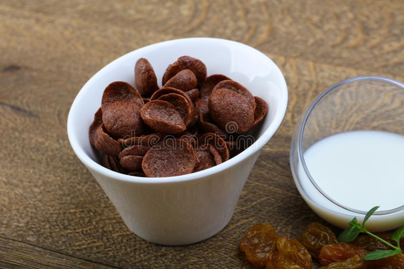 Choco corn flakes stock images