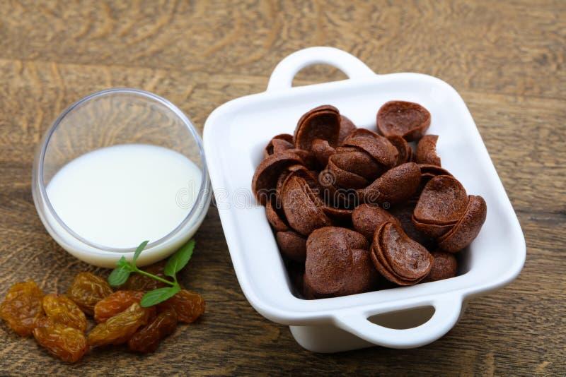 Choco corn flakes stock image