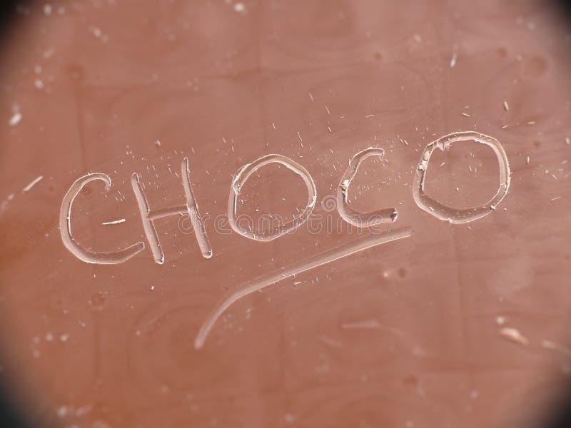 Download Choco czekolada zdjęcie stock. Obraz złożonej z słowo - 13477120
