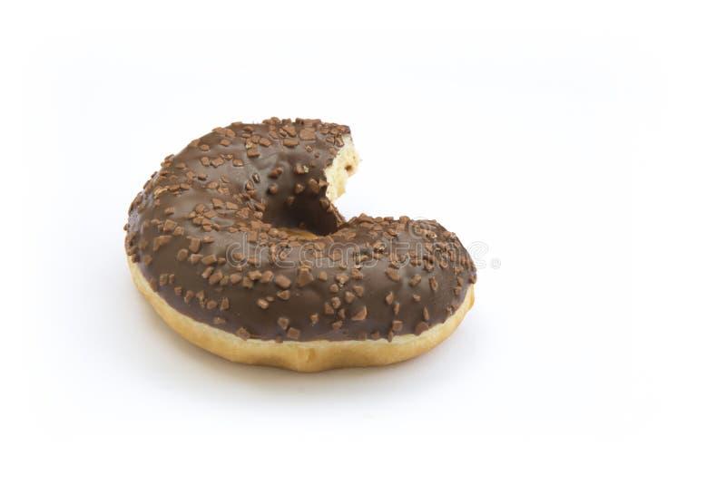 Choco Donnut tugga royaltyfria bilder