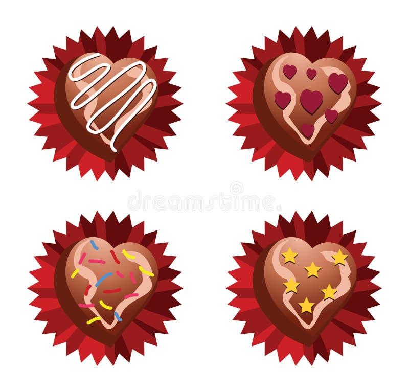 Choco Liebe vektor abbildung
