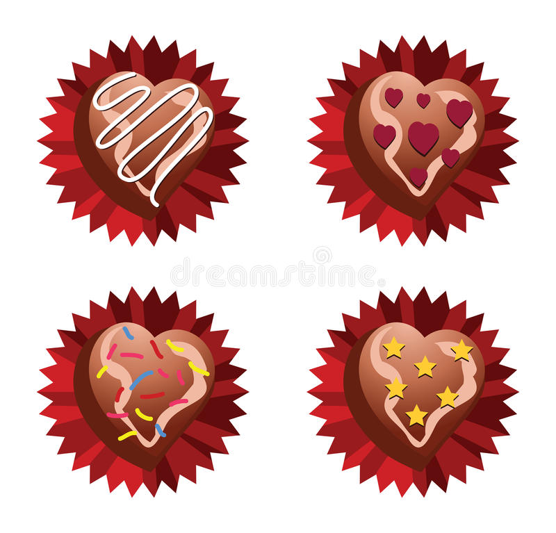 Choco Love vector illustration