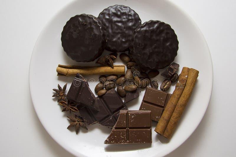 Choco met koffie en kaneel 09 stock afbeelding