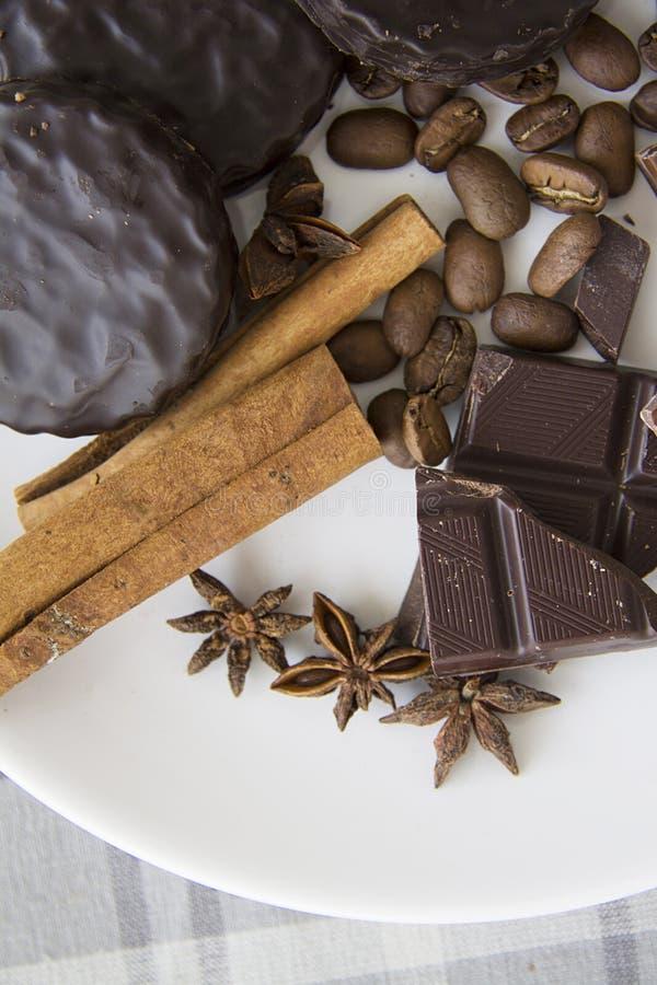 Choco met koffie en kaneel 03 stock afbeelding