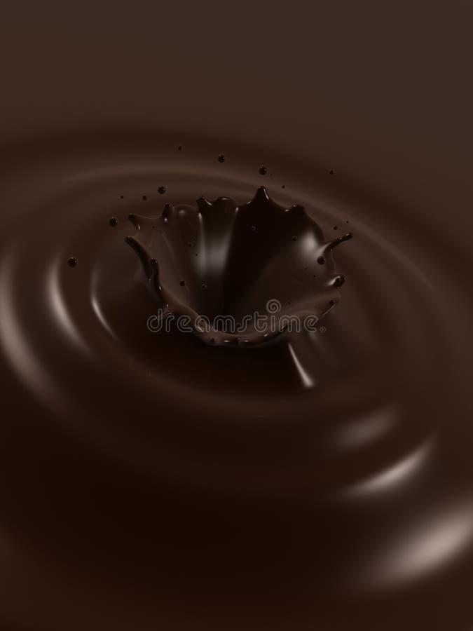 Choco Spritzen lizenzfreie abbildung