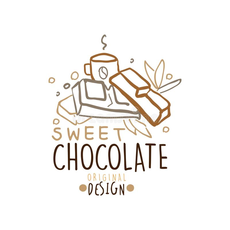Background For Sweets Company Logo Stock Vector