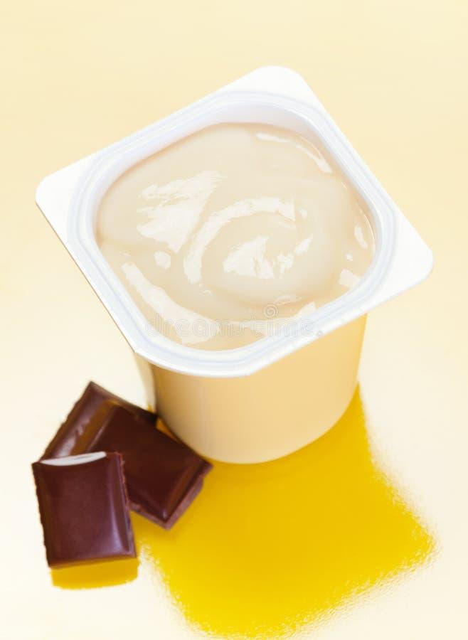 chocolade γιαούρτι στοκ εικόνες με δικαίωμα ελεύθερης χρήσης