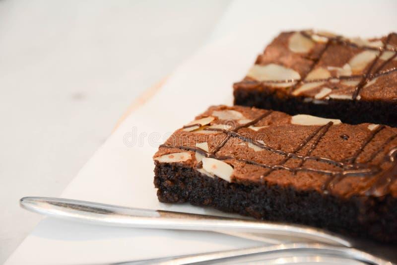 Chocolade Brownie Cake stock foto's