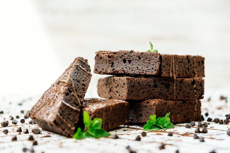 Download Chocolade Brownies stock foto. Afbeelding bestaande uit cacao - 107707504