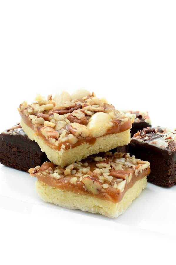 Chocolade Brownies royalty-vrije stock foto's