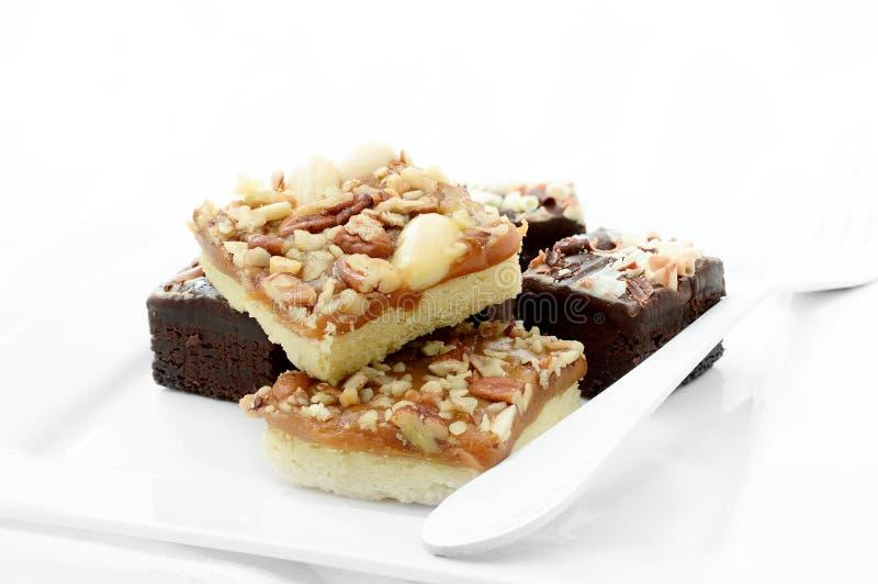 Chocolade Brownies III royalty-vrije stock foto