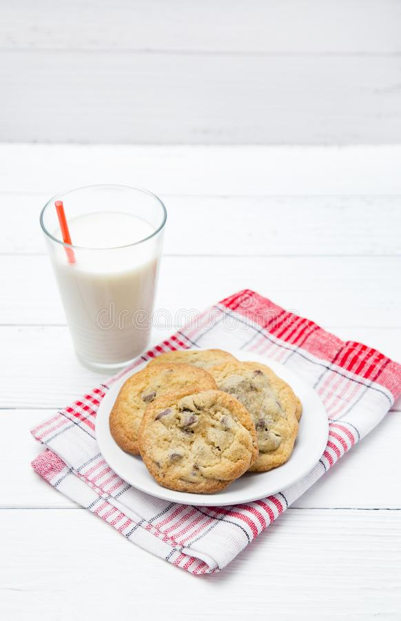 Chocolade Chip Cookies stock foto