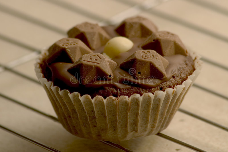 Chocolade Cupcake Stock Foto's