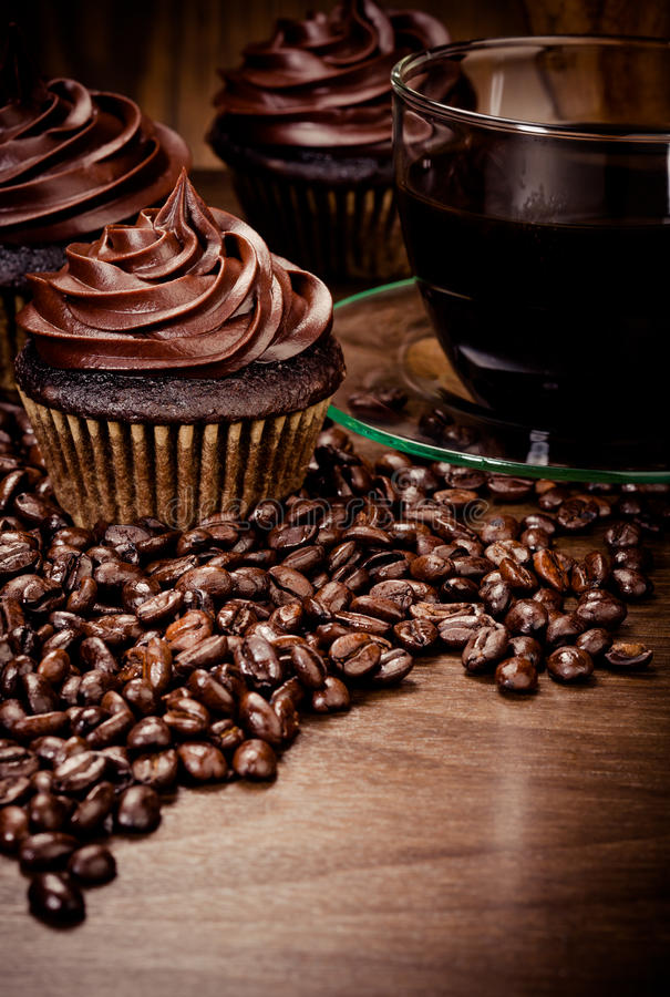 Chocolade cupcakes stock fotografie