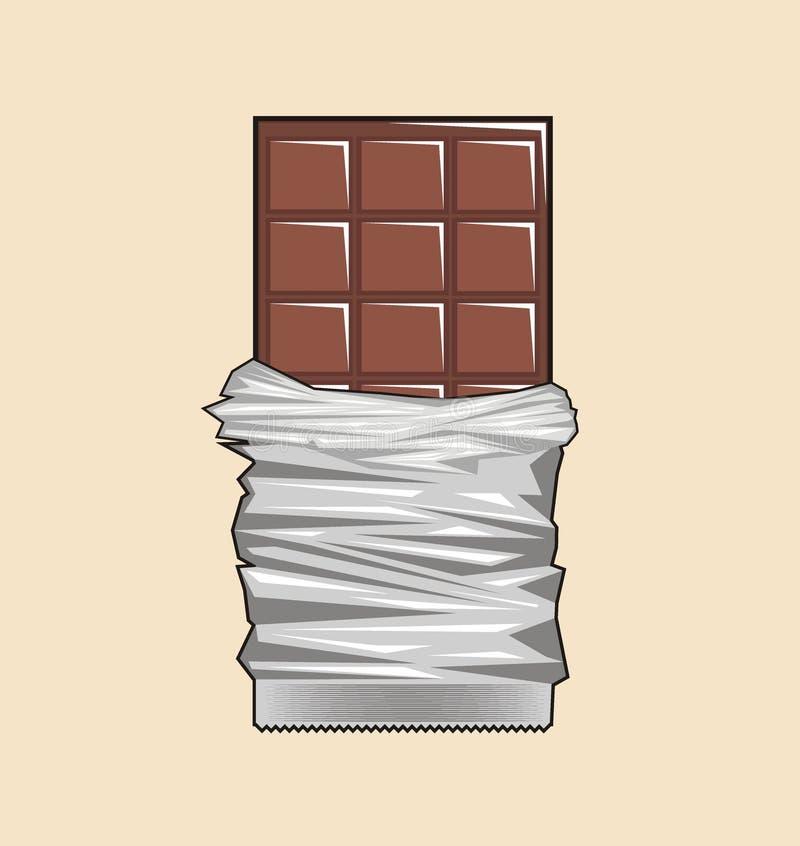 Chocolade eenvoudige illustratie stock illustratie