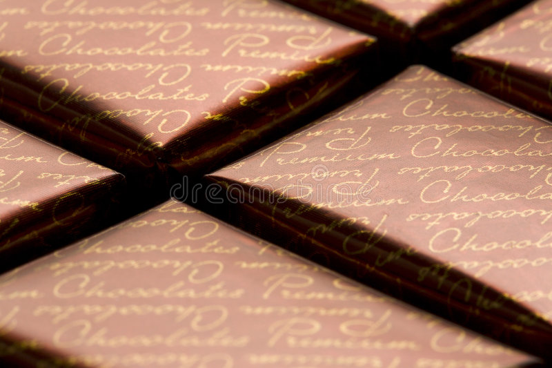 Chocolade in folie royalty-vrije stock afbeelding