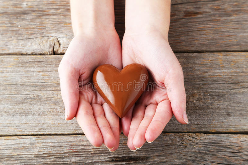 Chocolade heart royalty-vrije stock afbeeldingen