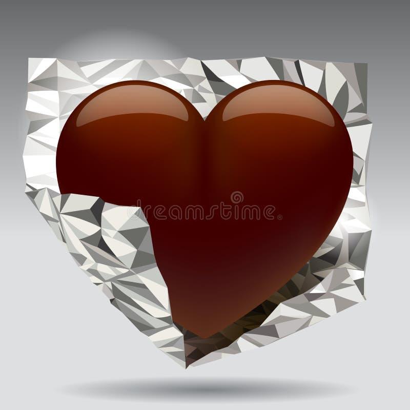 Chocolade heart stock illustratie