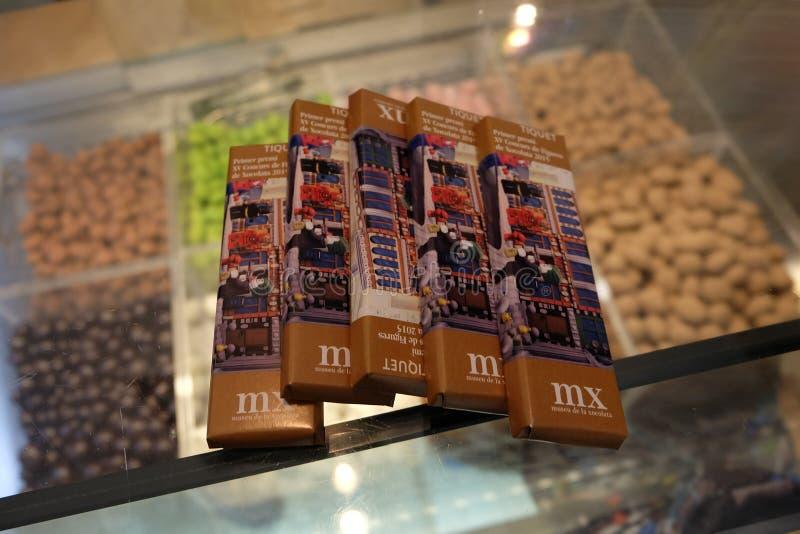 Chocolade-kaartjes royalty-vrije stock afbeelding