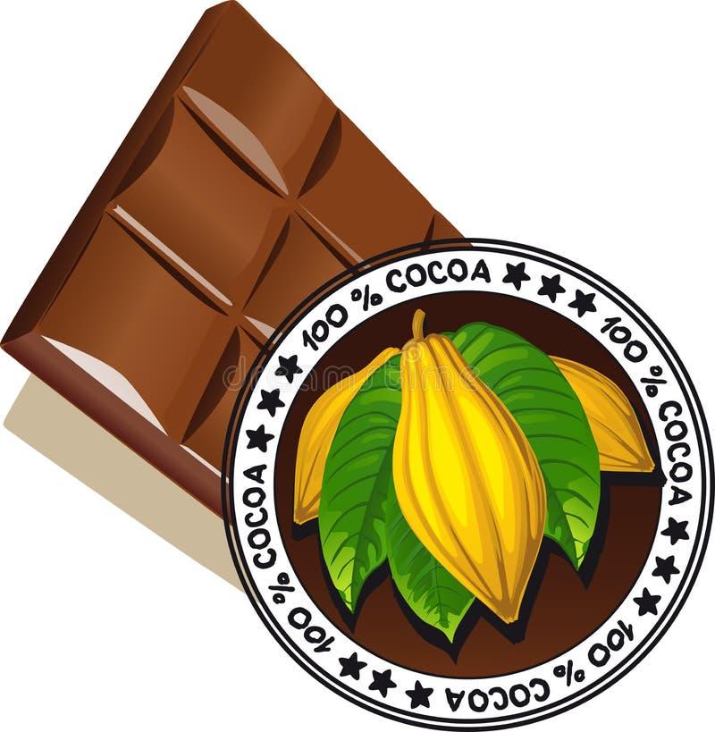 Chocolade met verbinding van Kwaliteit - vectorkwaliteit royalty-vrije illustratie