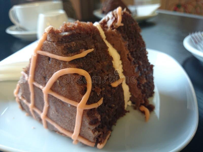 Chocolade oranje Cake stock fotografie