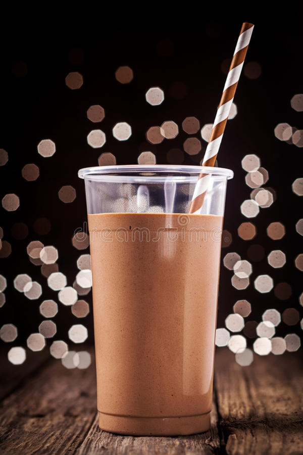 Chocolade smoothie of milkshake royalty-vrije stock foto's
