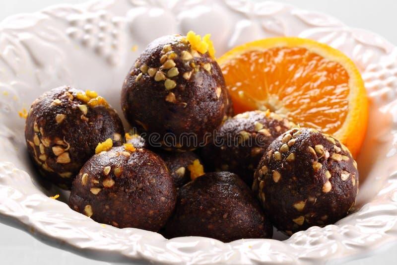 Chocoladeballen royalty-vrije stock afbeeldingen