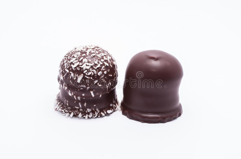 Chocoladebovenkanten stock afbeelding