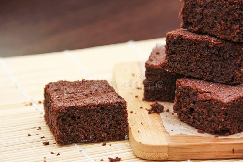 Chocoladebrownie stock afbeelding