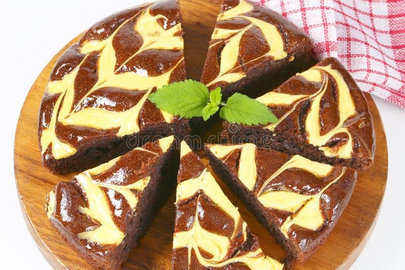Chocoladecake met kaas royalty-vrije stock foto
