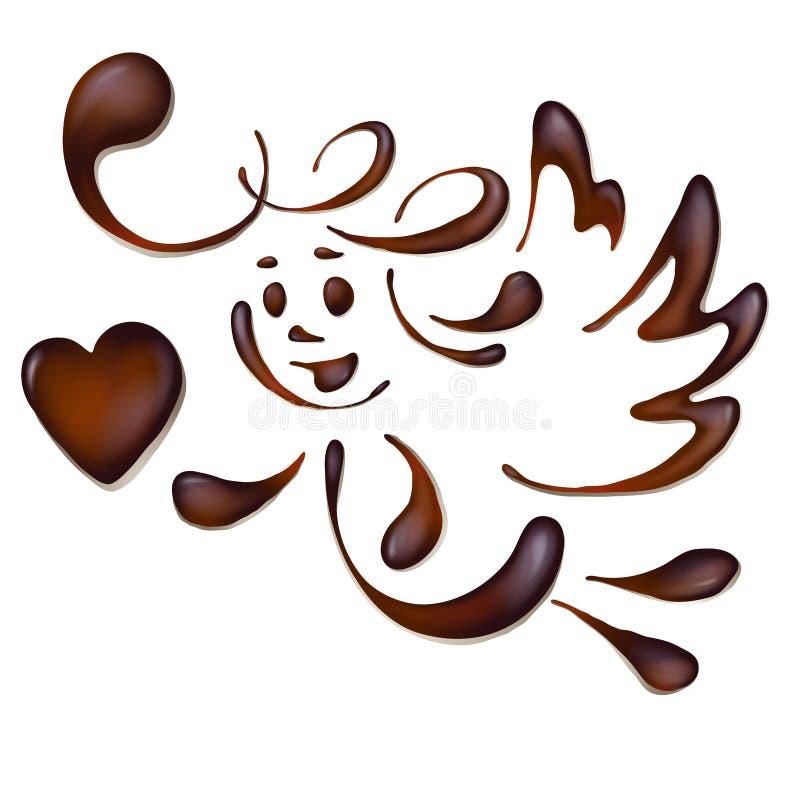 Chocoladeengel royalty-vrije illustratie