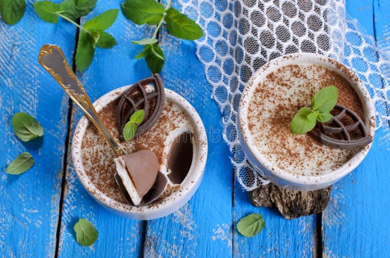 Chocoladegelei stock fotografie