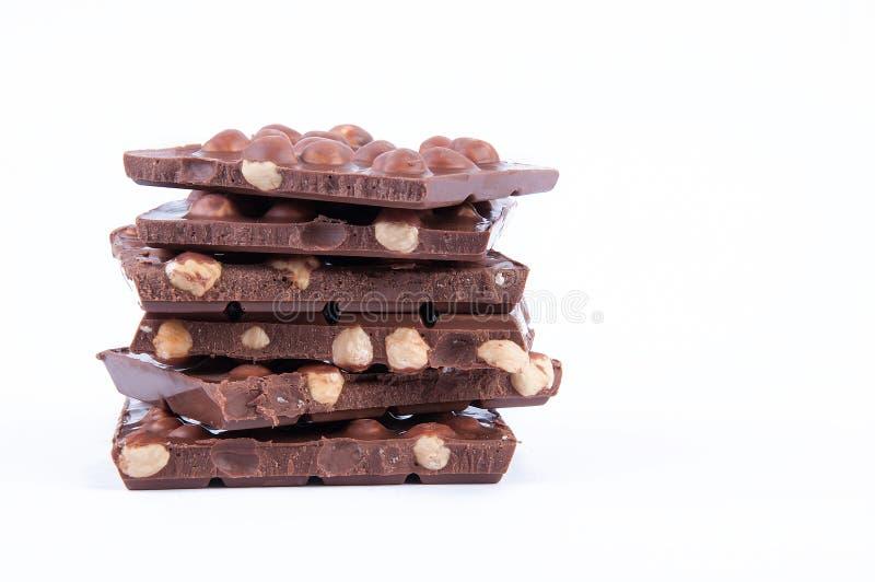 Chocoladehazelnoot royalty-vrije stock afbeeldingen