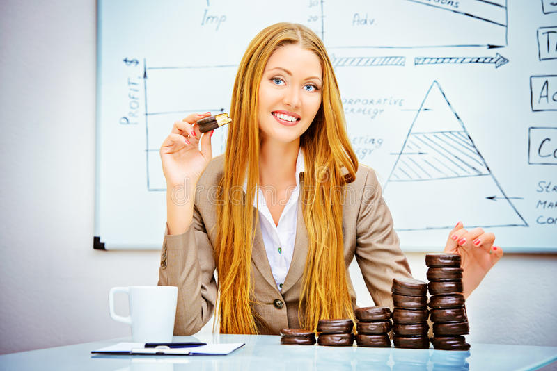 Chocoladeinkomen royalty-vrije stock fotografie