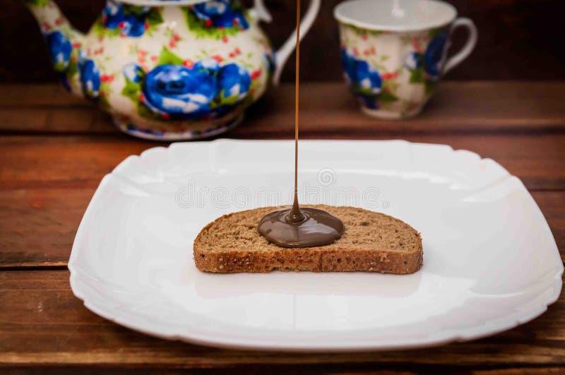 Chocoladejam royalty-vrije stock afbeelding