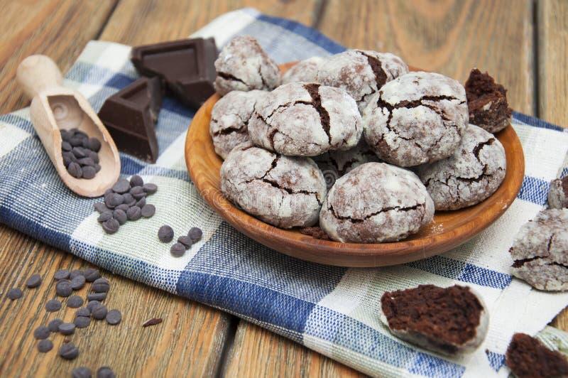 Chocoladekoekjes royalty-vrije stock foto's