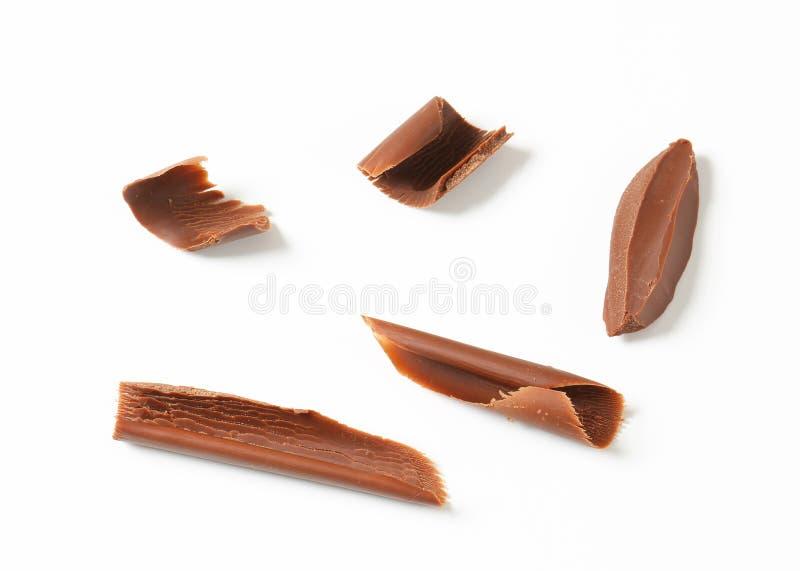 Chocoladekrullen stock afbeeldingen