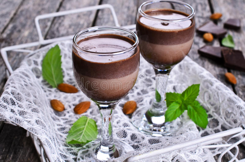 Chocoladelikeur royalty-vrije stock fotografie