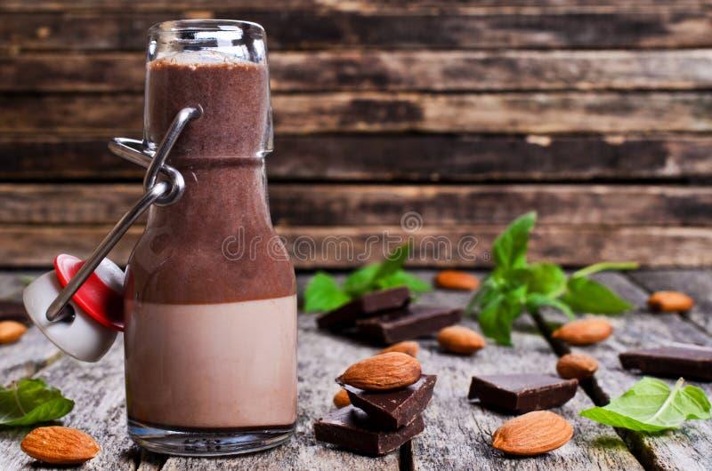 Chocolademelk royalty-vrije stock afbeelding